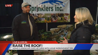 Fox 21 Interviewing Sprinklers Inc & Landscaping on TV